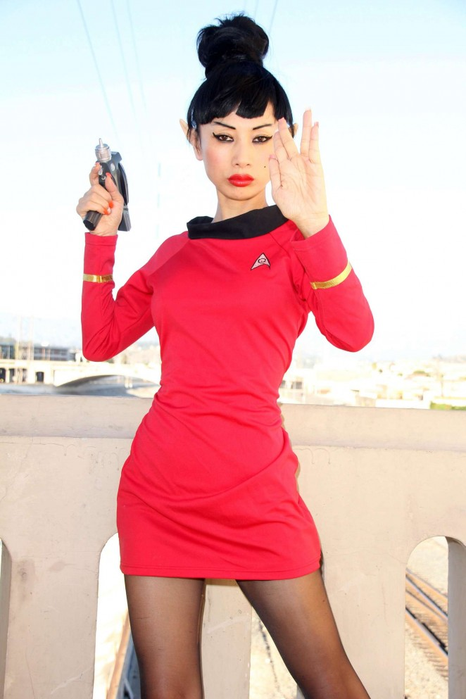 Bai Ling - Posing as a Starfleet Crew Member in LA