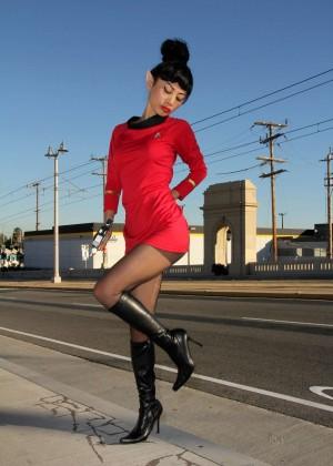 Bai Ling: Posing as a Starfleet Crew Member -03