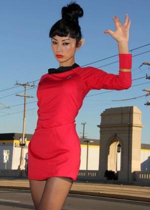 Bai Ling: Posing as a Starfleet Crew Member -04
