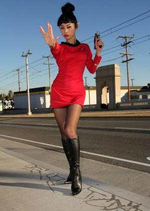 Bai Ling: Posing as a Starfleet Crew Member -05