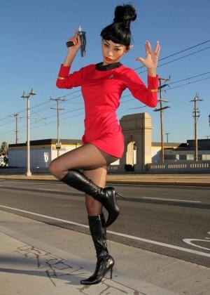 Bai Ling: Posing as a Starfleet Crew Member -06