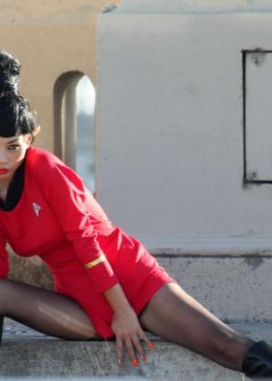 Bai Ling: Posing as a Starfleet Crew Member -08