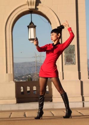 Bai Ling: Posing as a Starfleet Crew Member -09