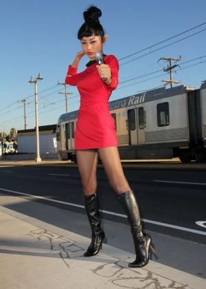 Bai Ling: Posing as a Starfleet Crew Member -10