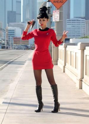 Bai Ling: Posing as a Starfleet Crew Member -12