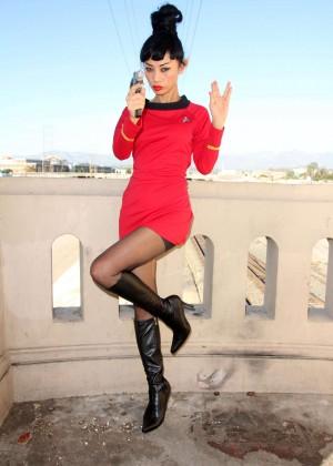 Bai Ling: Posing as a Starfleet Crew Member -13