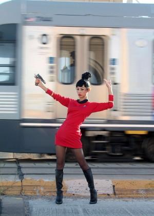 Bai Ling: Posing as a Starfleet Crew Member -15