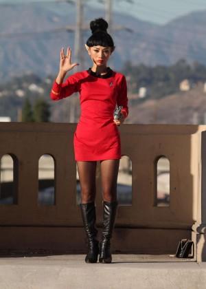 Bai Ling: Posing as a Starfleet Crew Member -16