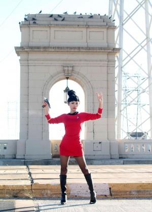 Bai Ling: Posing as a Starfleet Crew Member -17