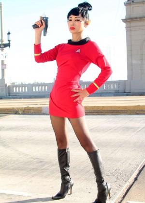 Bai Ling: Posing as a Starfleet Crew Member -18