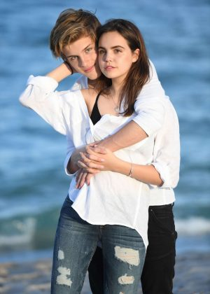 Bailee Madison and boyfriend Alex Lang on a photoshoot in Fort Lauderdale