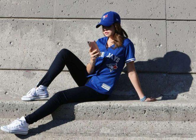 Bailee Madison – Toronto Blue Jays Game in Toronto