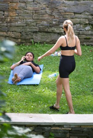 Bailee Madison - With Chandler Kinney Do some yoga in upstate New York