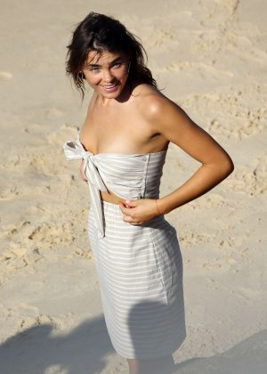 Bambi Northwood Blyth at a beach photoshoot in Sydney