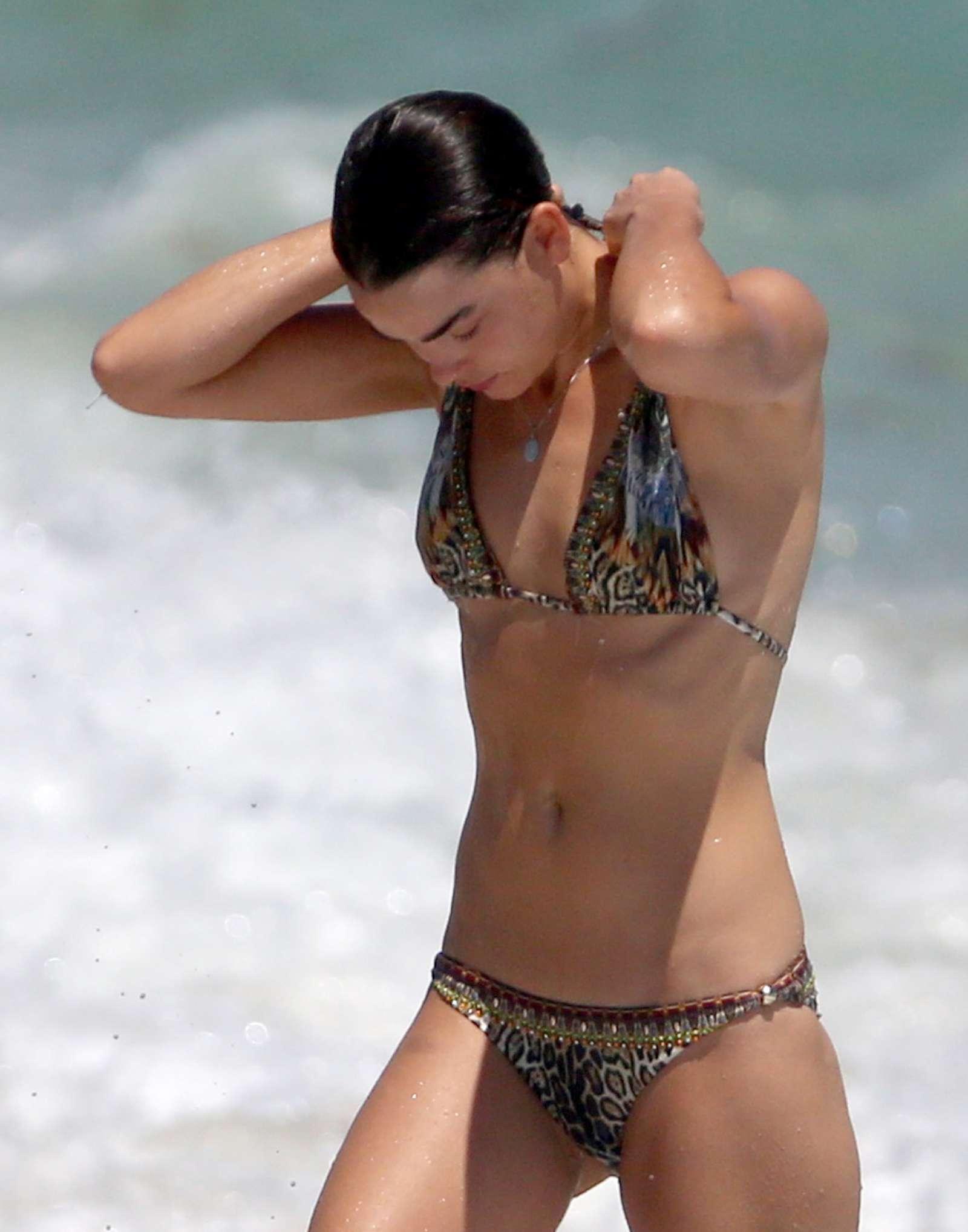 Bambi Northwood Blyth in Bikini at Miami Beach