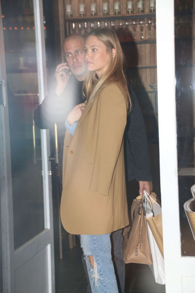 Bar Refaeli at HaShulchan Restaurant in Tel Aviv