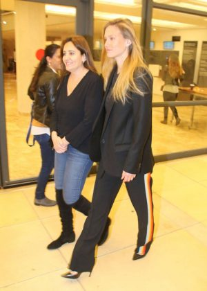 Bar Refaeli at Moshe Peretz concert in Tel Aviv