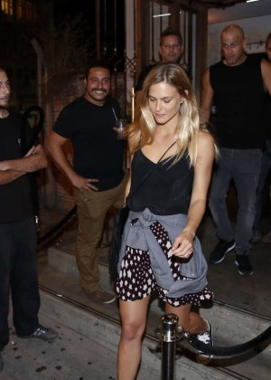 Bar Refaeli - Leaving ARIA Lounge Bar in Tel Aviv