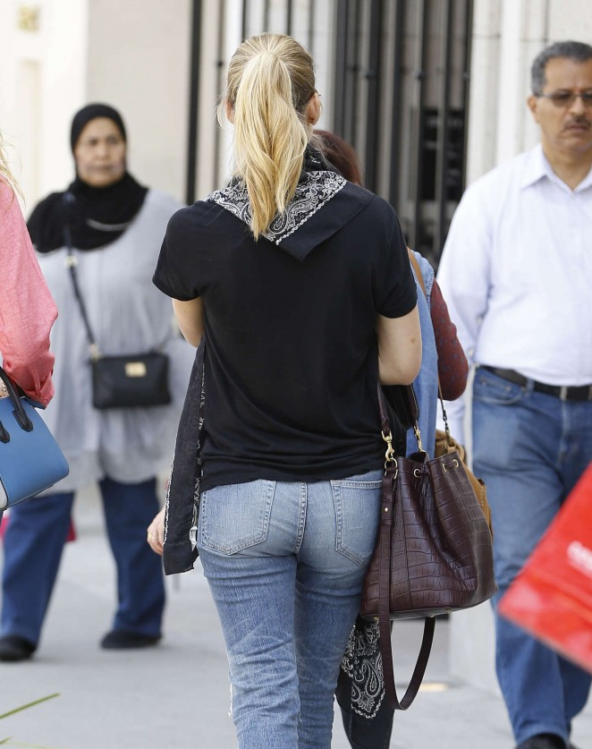 Bar Refaeli in Jeans Out in Beverly Hills