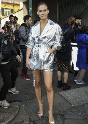 Bar Refaeli - Outside Byblos Fashion Show in Milan