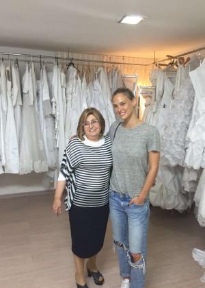 Bar Refaeli - Visits Migdal Ohr's Bridal Fund in Migdal HaEmek