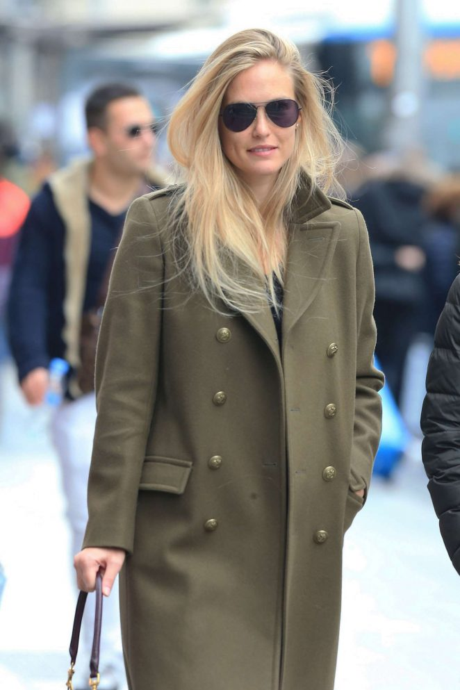 Bar Refaeli with a friend out in Madrid