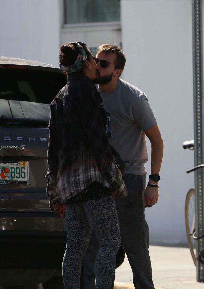Barbara Becker - Kisses her new young lover in Miami