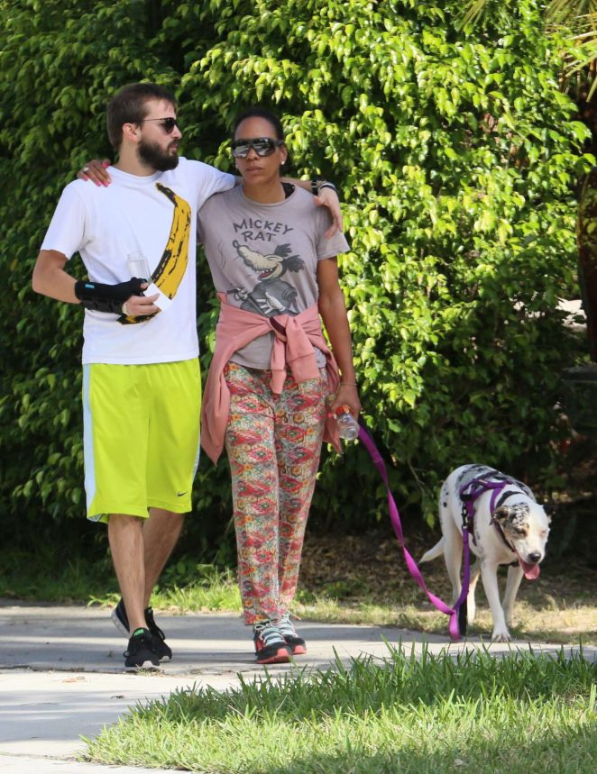 Barbara Becker with new boyfriend Juan Lopez Salaberry out in Miami