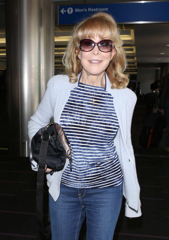 Barbara Eden - Arrives at Los Angeles International Airport