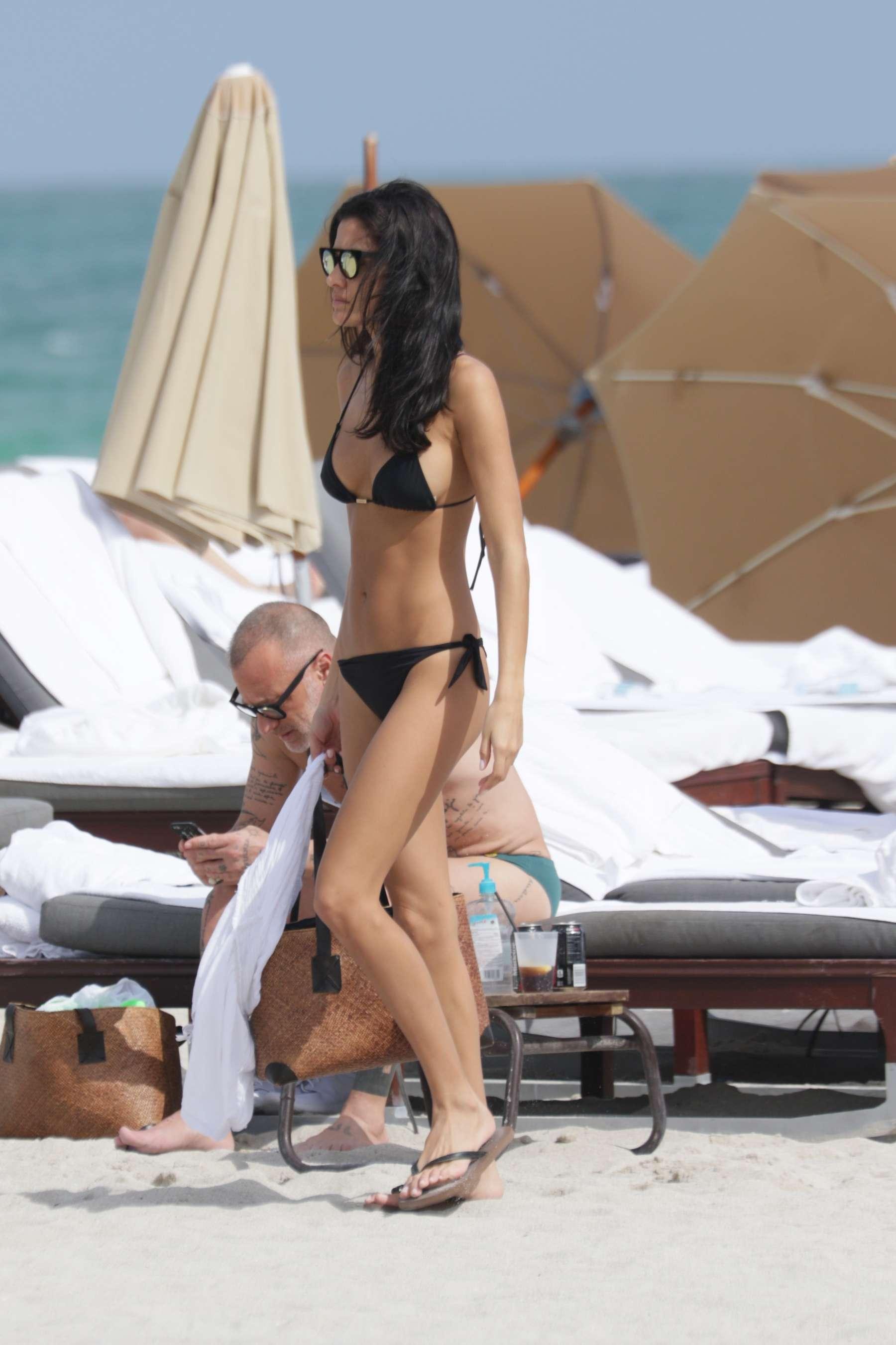 Barbara Nogueira in Black Bikini -09