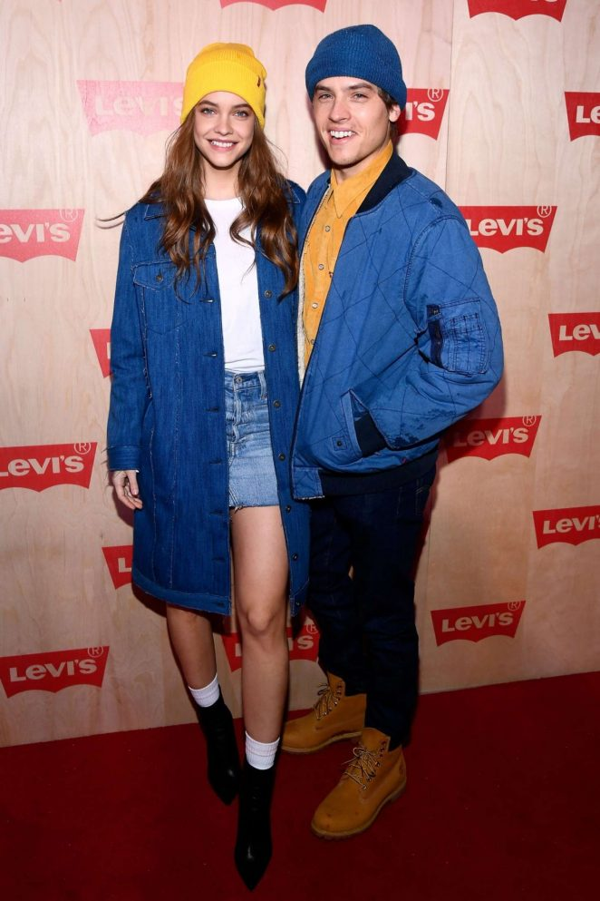 Barbara Palvin and Dylan Sprouse - Levi's Times Square Store Opening in NYC