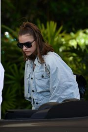 Barbara Palvin - Arrives at her hotel in Miami