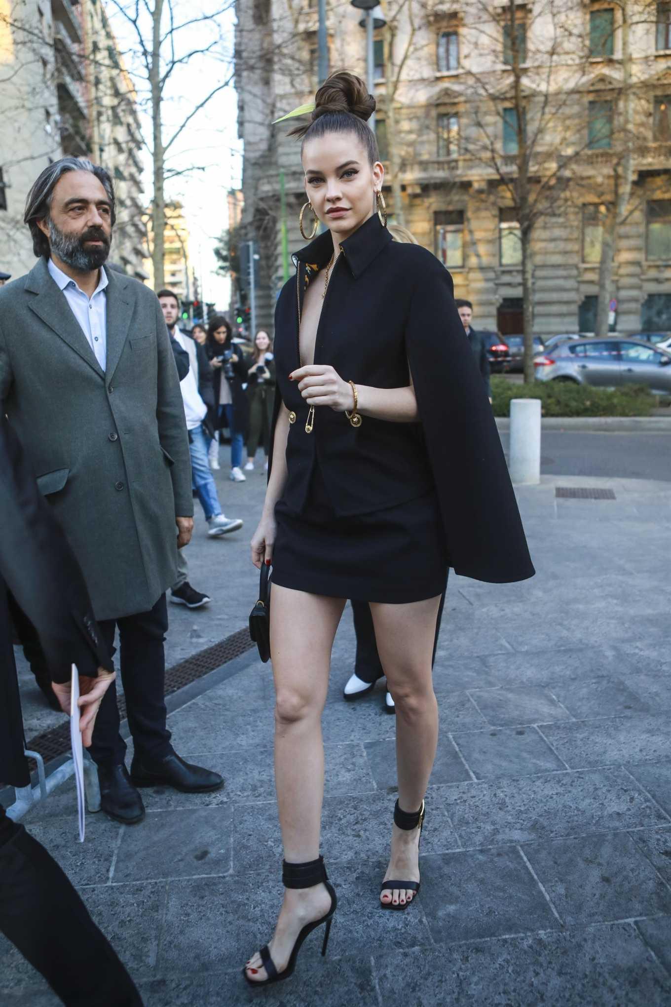 Barbara Palvin 2020 : Barbara Palvin – arrives at the Versace Show in Milan, Italy-01