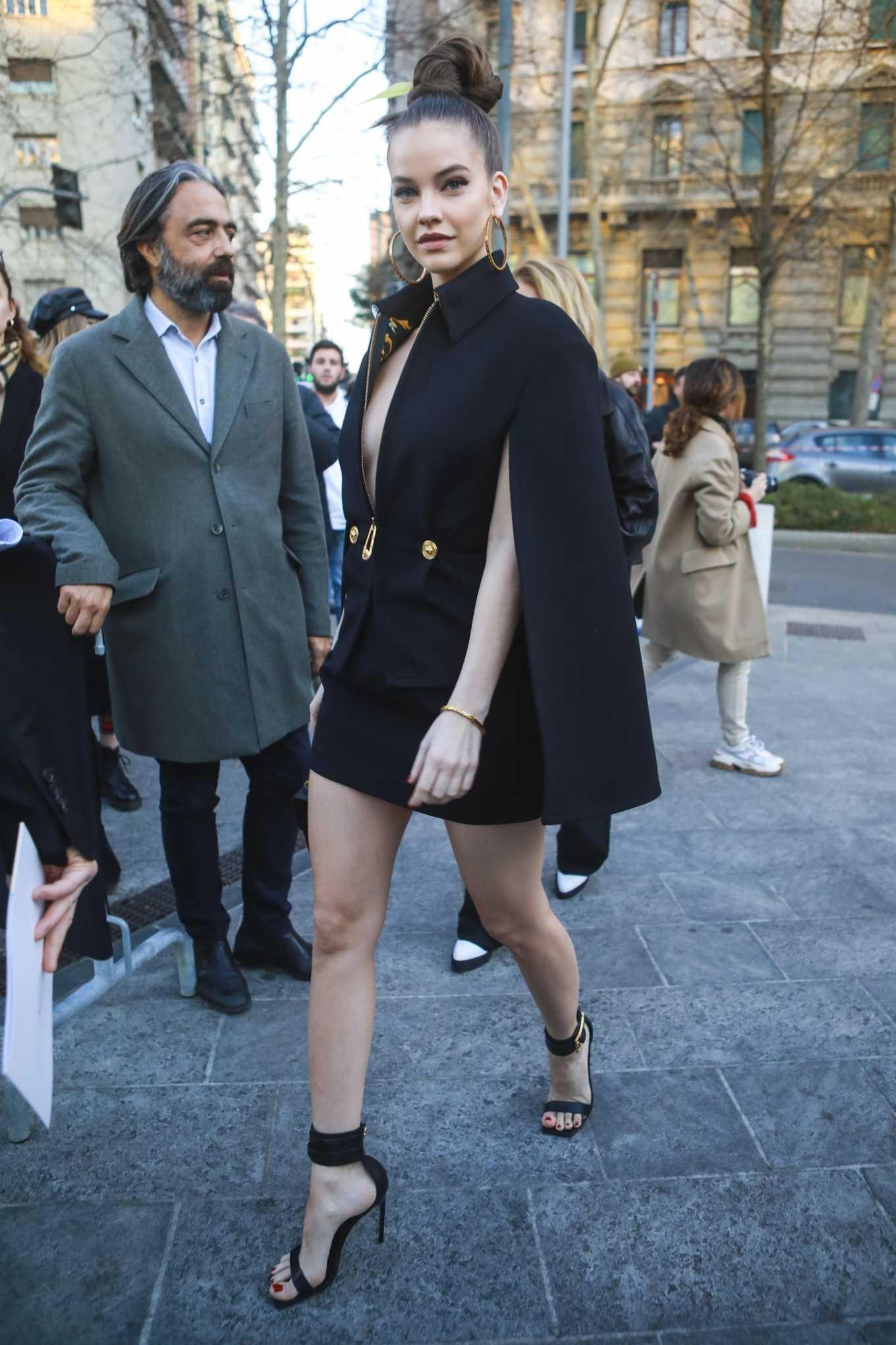 Barbara Palvin 2020 : Barbara Palvin – arrives at the Versace Show in Milan, Italy-05