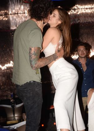 Barbara Palvin at a club in St Tropez
