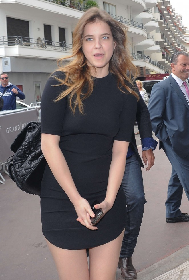 Barbara Palvin in Mini Dress at Hotel Martinez in Cannes