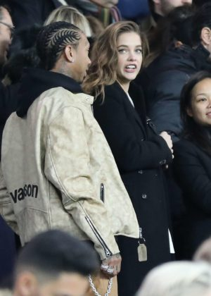 Barbara Palvin at PSG vs Nantes game in Paris