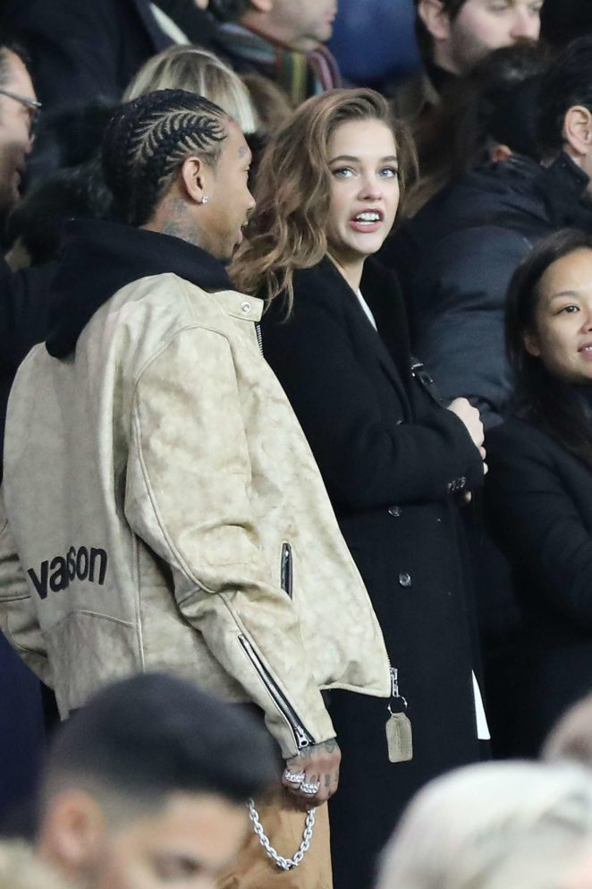 Barbara Palvin at PSG vs Nantes game in Paris