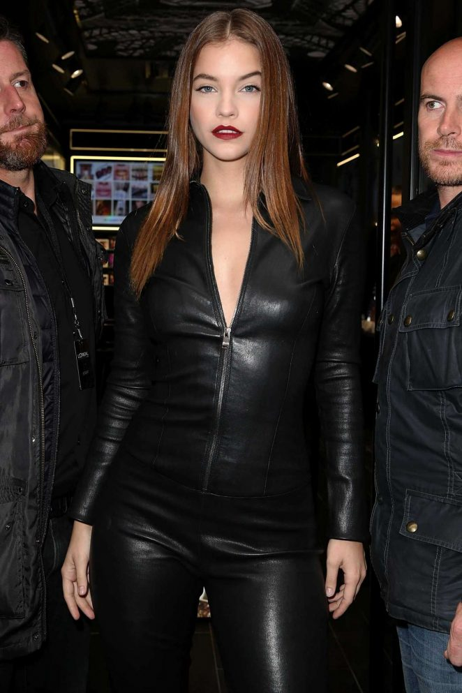 Barbara Palvin in Leather on a Motorcycle Ride in Paris