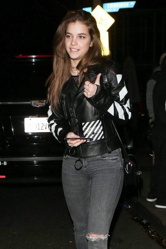 Barbara Palvin in Ripped Jeans - Night out at Delilah in West Hollywood