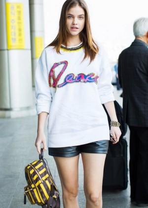 Barbara Palvin in Shorts at Incheon International Airport in Seoul