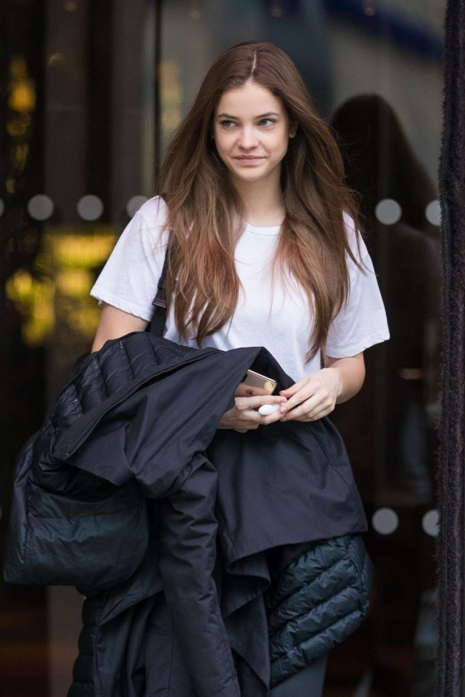Barbara Palvin - Leaves the Royal Monceau hotel in Paris