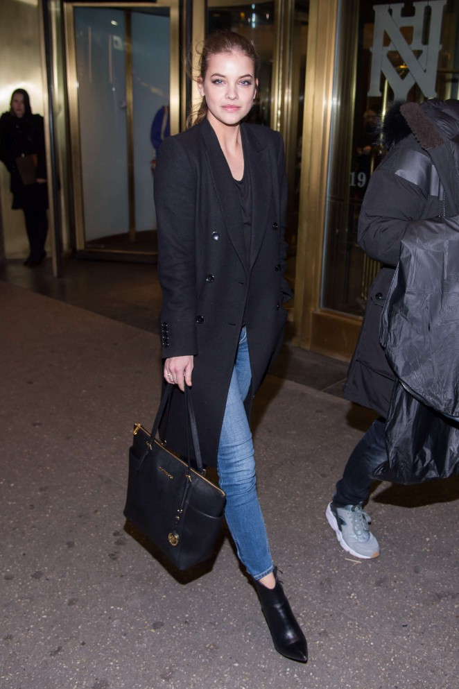 Barbara Palvin – Leaving a hotel in NYC