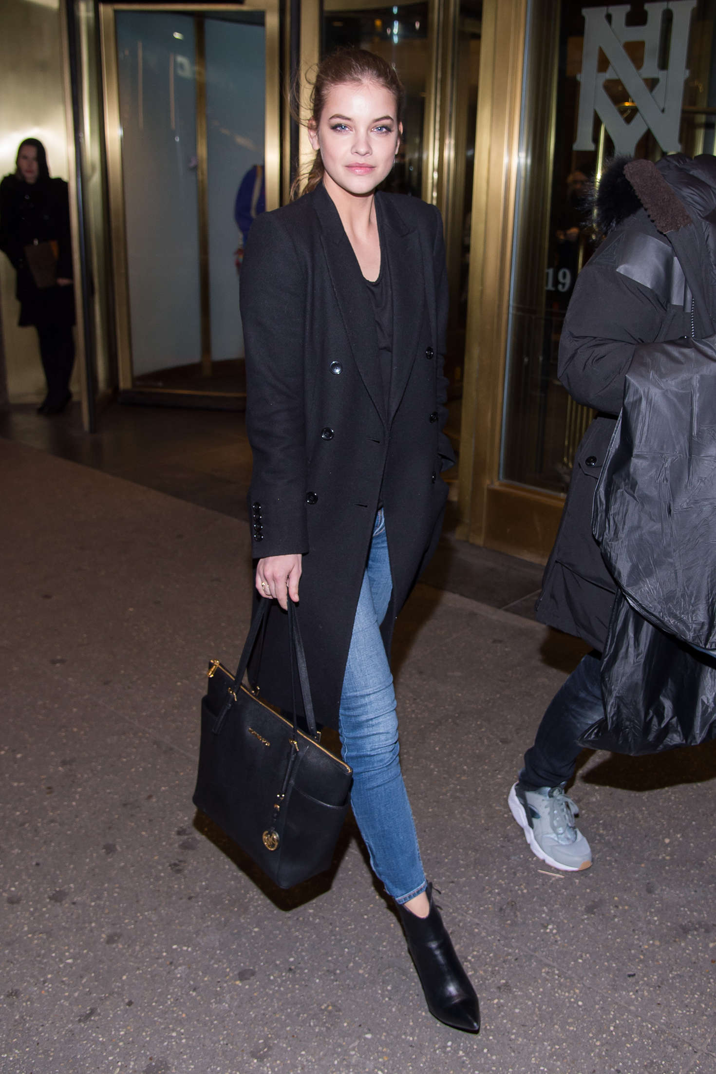 Barbara Palvin - Leaving a hotel in NYC