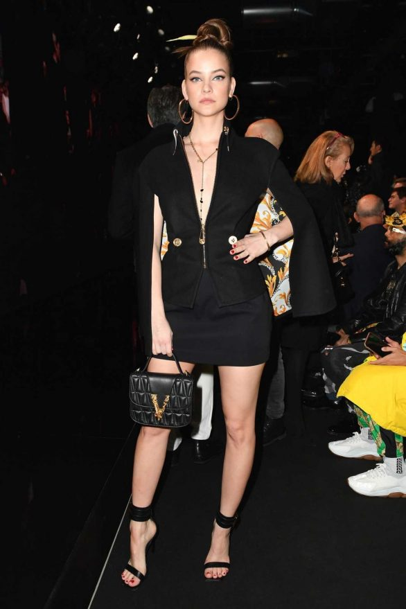 Barbara Palvin - Posing at Versace Fashion Show in Milan