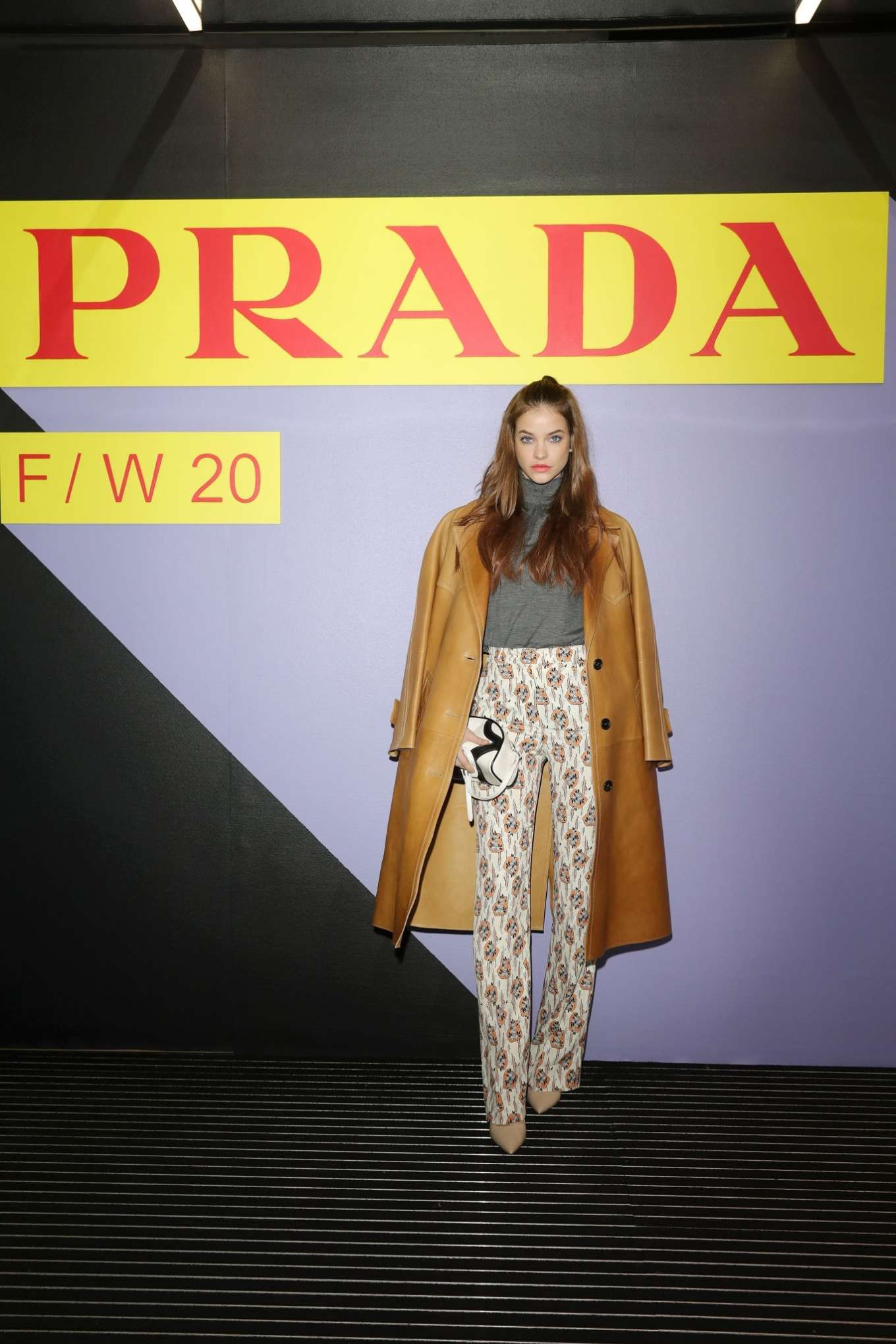 Barbara Palvin - Prada FW 2020 Fashion Show in Milan