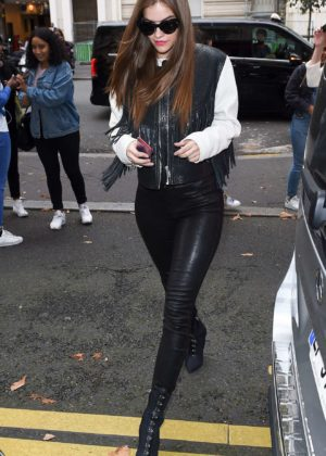 Barbara Palvin - Seen at the Royal Monceau hotel in Paris