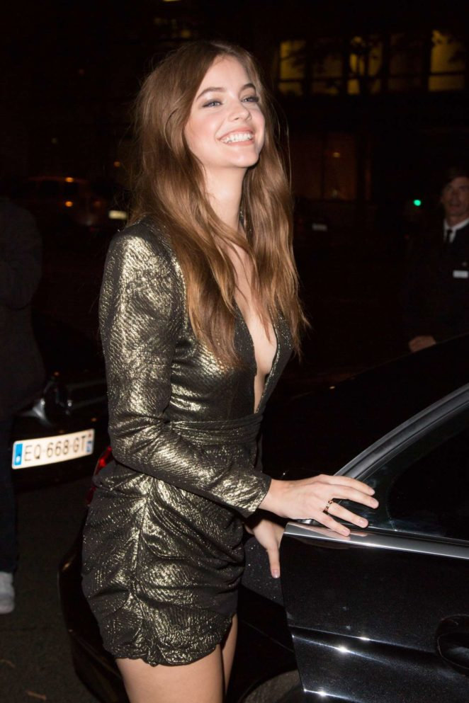 Barbara Palvin - Seen outside her hotel in Paris