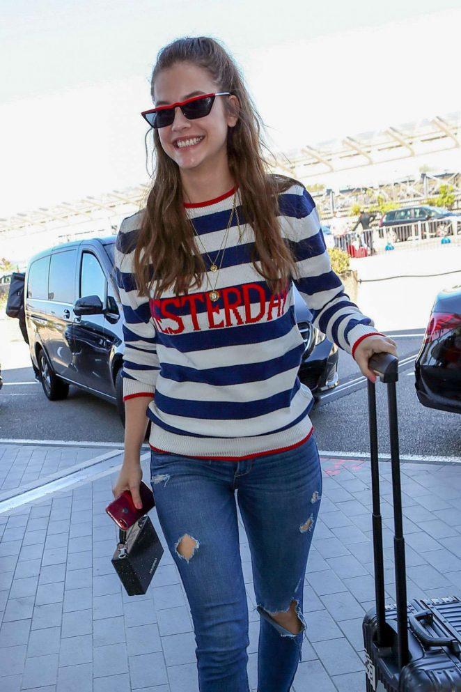 Barbara Palvin - Spotted at Nice Airport