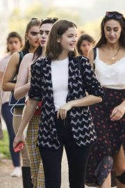 Barbara Palvin with Charli Howard and Sophia Hadjipanteli - Out in Rome